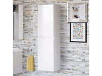 Wall Hung Bathroom Cabinet Storage Unit 2 Door Soft Close