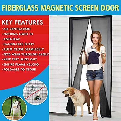 Magnetic Screen Door Fiberglass Mesh With Magnets, Fly Mosquitos Bug Insect For ()