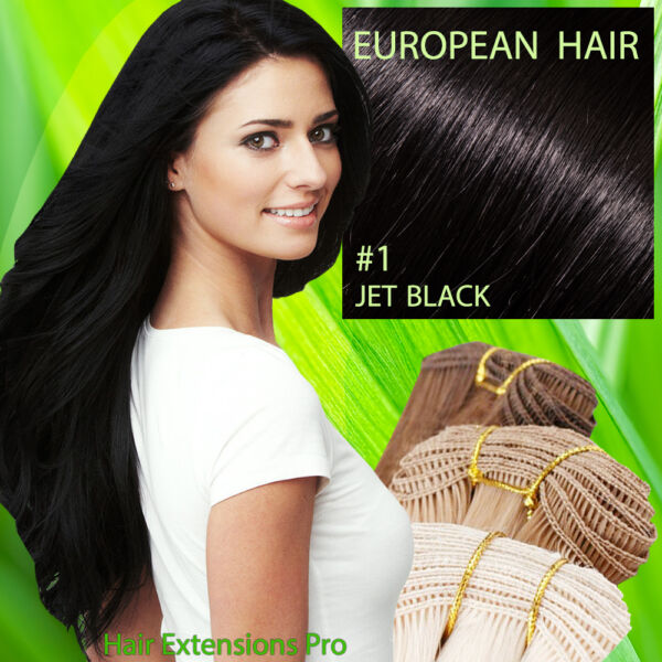 Hand Tied Weft Weave Hair Extensions Melbourne European Hair 329