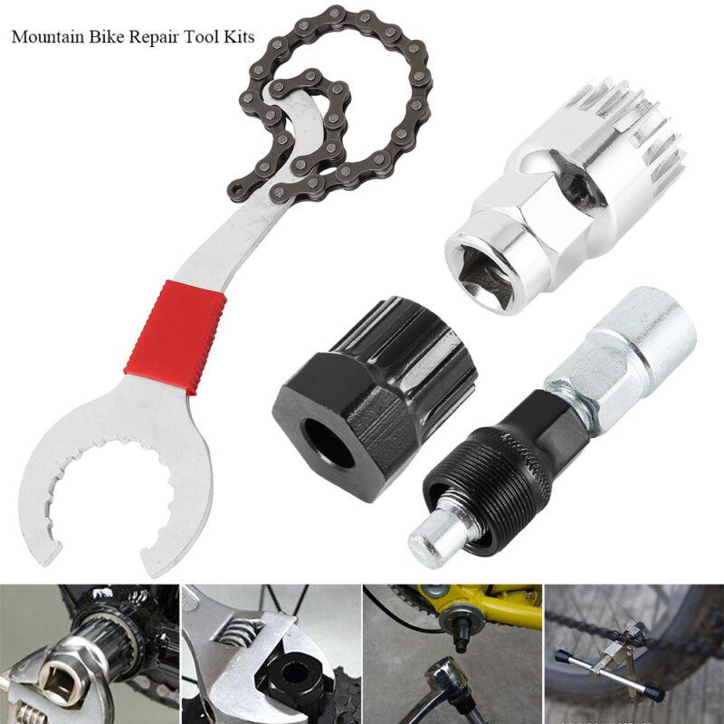 4 in 1 Fahrrad Werkzeug Bits Reparatur Werkzeug Zahnkranzabzieher Kurbelabzieher