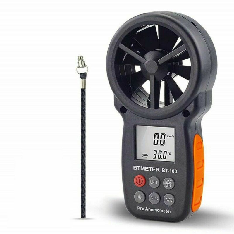 BTMETER Handheld Digital Anemometer Wind Speed CFM Meter Current Test Wind Chill