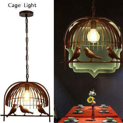 ird Cage Ceiling Chandelier Loft Pendant Light Shade Lamp UK (Vintage Bird Cage)