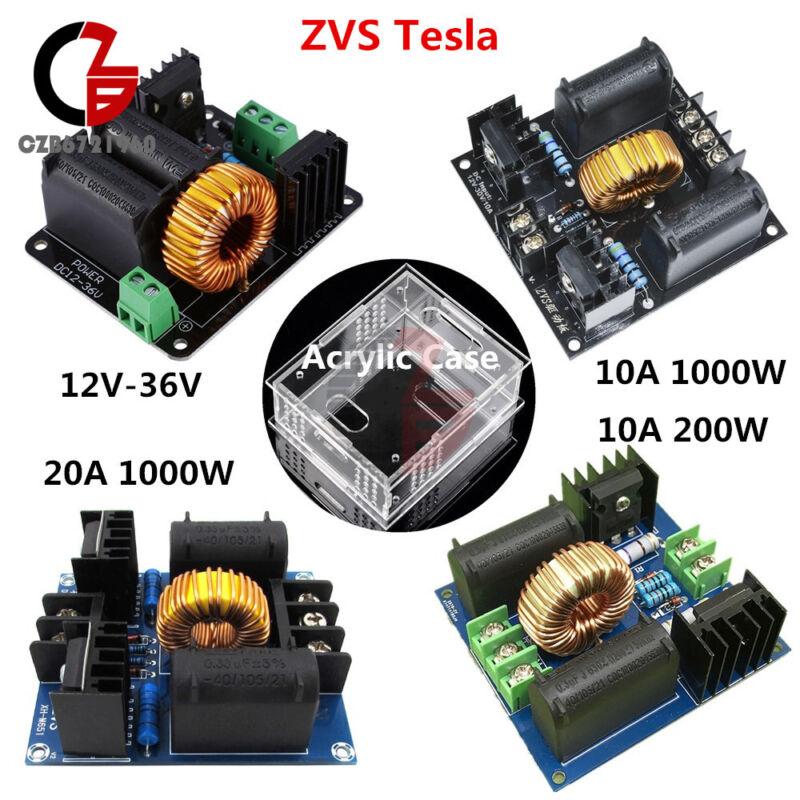 10A/20A 200W/1000W 12V-30V 12V-36V ZVS Tesla Flyback Driver Board Acrylic Case