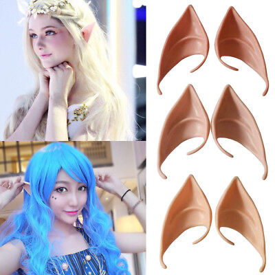 Halloween Costume Party Fairy Elf Pixie Alien Fake Pointed Ears Prop Cosplay ](Fake Ears Costume)