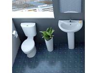 Modern Basin & Toilet Suite now £108