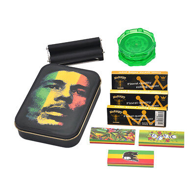 9 Pieces 1X Tobacco Box   3 X Rolling Papers  3X Filter Tips 1 Roller 1 Grinder