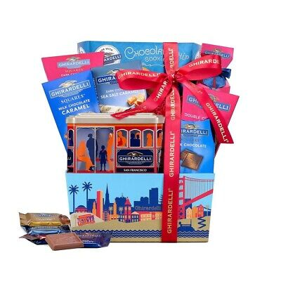 - Wine Country Gift Basket Ghirardelli Assortment in San Francisco box
