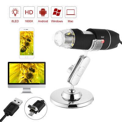 Wifi Usb Microscope Digital Zoom Handheld 2mp Camera 8 Led Magnifier Stand Set
