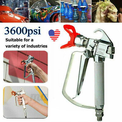 3600 Psi Airless Paint Spray Gun High Pressure With 517 Tip Guard For Sprayers