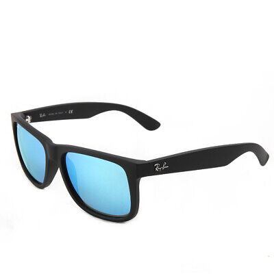Ray-Ban Justin RB4165 622/55 55 Matte Black Ice Blue Sonnenbrille
