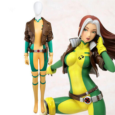 Hot Cakes Original X-men Rogue Cosplay Costume Jumpsuit Full Set