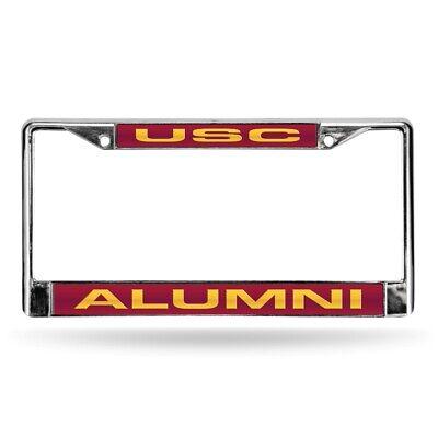 Southern Cal USC Trojans NCAA Alumni Chrome Metal Laser Cut License Plate Frame Alumni Chrome Frame