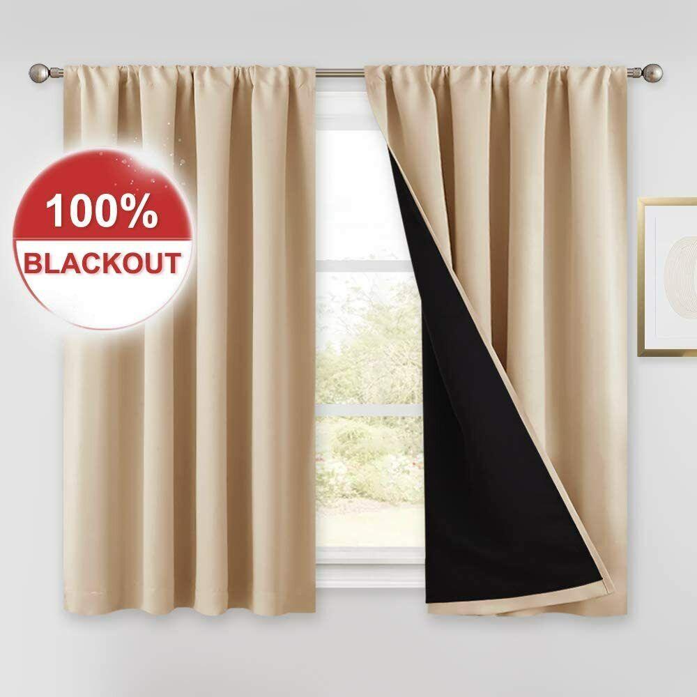 basement window curtains w 52 x l