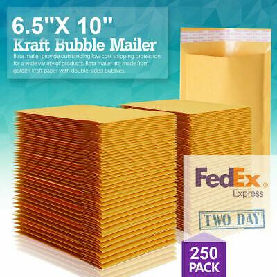 0 6x10 Kraft Bubble Mailer Self Seal Shipping Bag Envelope Bag 2550100250
