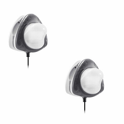 Intex Above Ground Underwater LED Magnetic Swimming Pool Wall Light (2 Pack)