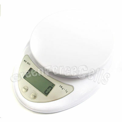 2 x Compact 11lbs/5kg 5000g/1g Weight Digital Kitchen Diet Food Postal Scale