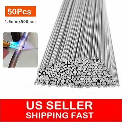 50pcs Aluminum Solution Welding Flux-cored Rods Wire Brazing Rod 1.6mm X 50cm Us