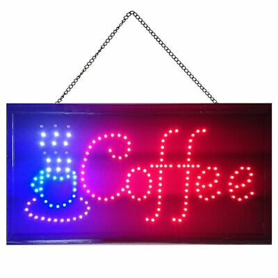Ultra Bright Coffee Cup Sign Led Neon Light Animated Motion Cafe Business Sign