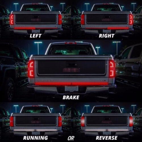49'' LED Tailgate Strip Bar Truck Light BRAKE TURN SIGNAL For GMC Sierra