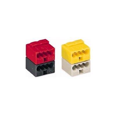 Wago 243-212 EIB Steckverbinder 4-Leiter lichtgrau und gelb 50 Stück