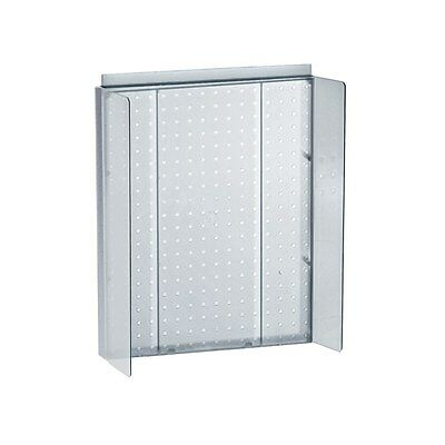 New Retails Clear Pegboard Powerwing Display 16w X 20.25 High