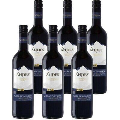 6 x 75 cl Andes Cabernet Sauvignon Trocken Rotwein Chile 13% vol