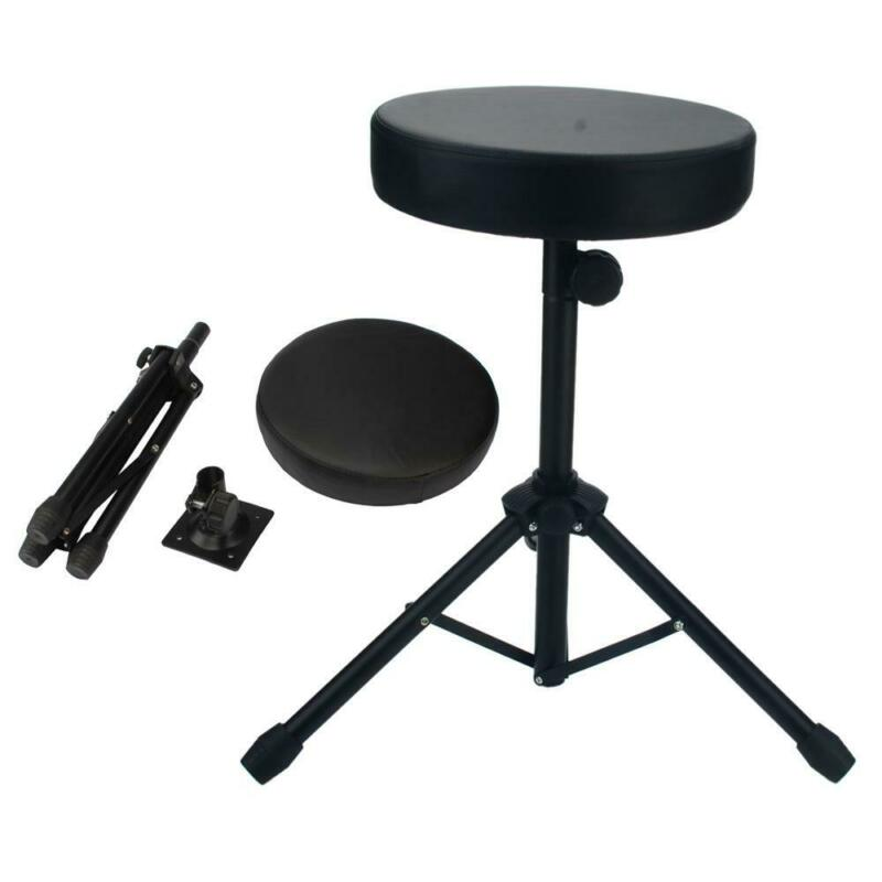 Folding Portable Padded Drum Throne Seat Stool w/ Soft Padding