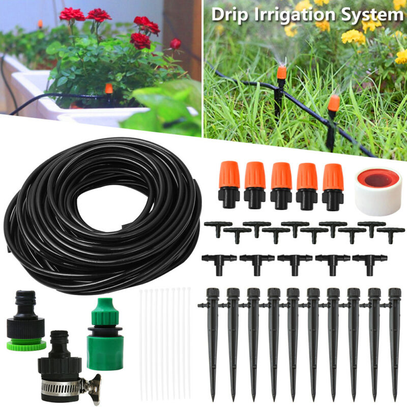 25M Water Irrigation Kit Micro Drip Watering System Automatic Plant Garden Tool