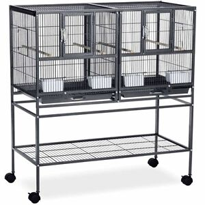 2x Divided Bird Cages by Prevue Hendryx