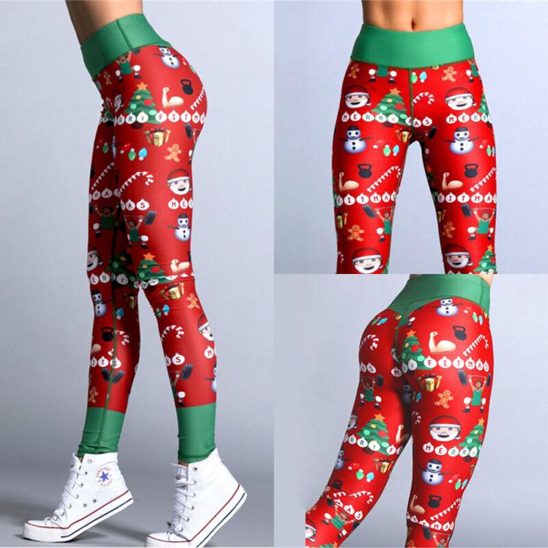 Women High Waist Yoga Pants Butt Lift Leggings Fitness Scrunch Elastic Trousers 6