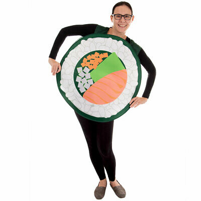 Sushi Roll Halloween Costume | Adult Unisex One-Size Funny Food Outfit