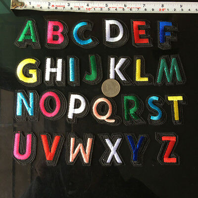 Used, 26Pc Set Alphabet English Letters Patch Iron On Embroidery Applique Sewing DIY for sale  Shipping to Canada