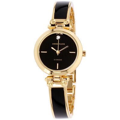 Anne Klein Classic Quartz Movement Black Dial Ladies Watch AK2694BKGB
