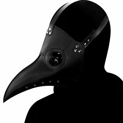 Plague Doctor Mask Long Nose Beak Bird Crow Cosplay Steampunk Halloween Props US