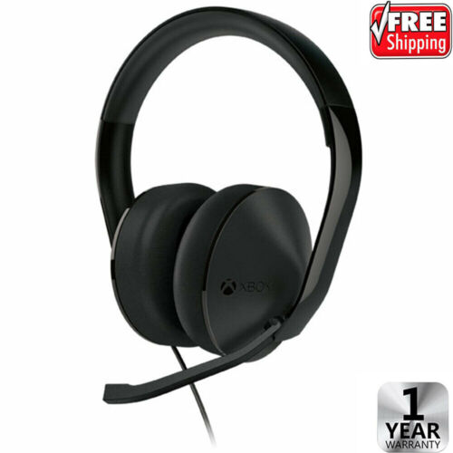 New OFFICIAL Microsoft XBOX ONE Stereo Headset (Original OEM Black + Cable / PS4
