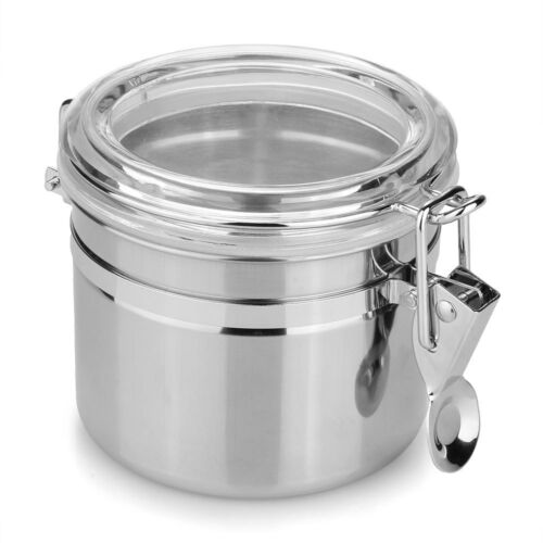 Stainless Steel Airtight Sealed Canister Coffee Flour ...
