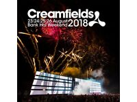 Creamfields Gold 2 day camping x 1