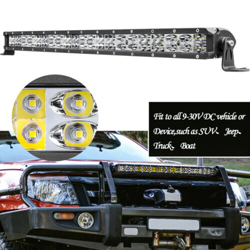 "2PCS 8/"" Car SUV AUTO LED Work Light Bar Offroad Front Bumper Roof Fog Lamp 6000K"