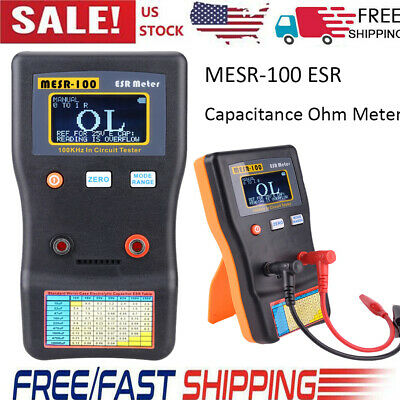 Mesr-100 Esr Capacitance Ohm Meter Resistance Capacitor Circuit Tester D8f5