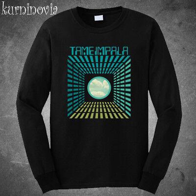 Concert Black Band T-shirt - Tame Impala Concert Logo Rock Band Long Sleeve Black T-Shirt Size S to 3XL