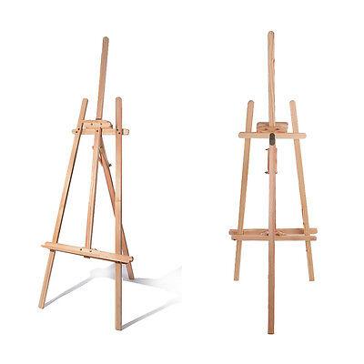 Standstaffelei Staffelei Holzstaffelei Atelierstaffelei Studiostaffelei 180cm DE