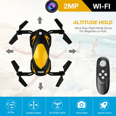Mini Foldable With Wifi FPV 2MP HD Camera 2.4G 6-Axis RC Quadcopter Drone Toys