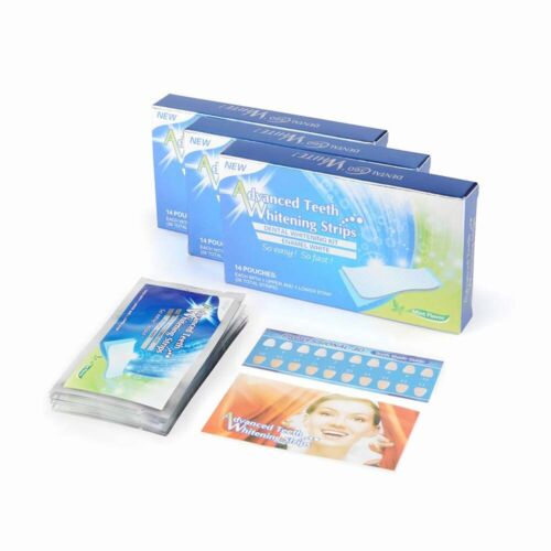 Advanced+teeth+whitening+strips+%2B+TWO++FREE+beauty+glazed+nose+strips+ONLY+4%C2%A3+