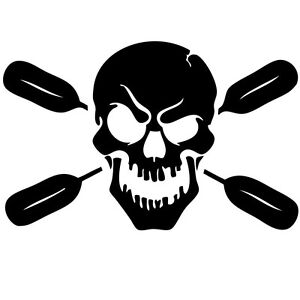 Skull-with-oars-paddle-vinyl-decal-sticker-Kayak-Fishing-car-truck-canoe-truck