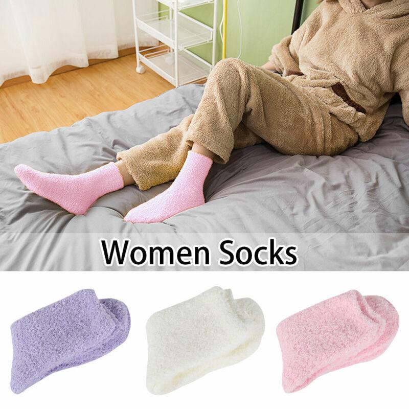 6pairs womens warm soft fluffy bed socks
