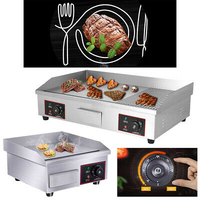 1429 Commercial Electric Countertop Griddle Flat Top Grill Hot Plate Bbq