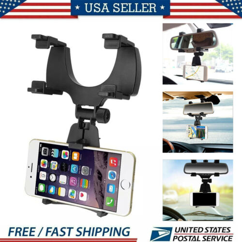 1x Car Accessories Rearview Mirror Mount Stand Holder Cradle Auto For Cell Phone