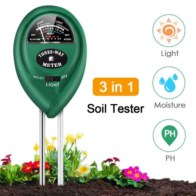 3 in1 Soil Tester Water PH Moisture Light Test Meter Outdoor Garden Plant Flower