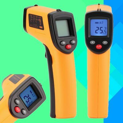 Digital Ir Thermometer Temperature Temp Infrared Laser Gun Sensor Industry Heat