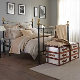 Iron bed company feather and black 5ft black Tosca wrought iron bed